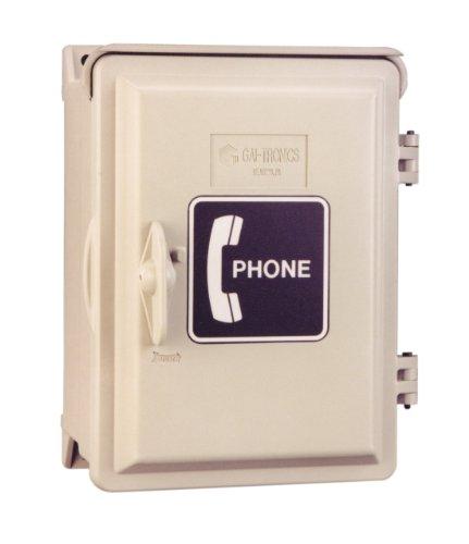 Outdoor Telephone Enclosures (Waterproof Phone Box Enclosure with Spring Loaded Door - INDUSTRIAL TELEPHONE ENCLOSURE WITH WALLPLATE JACK & SPRING LOADED)