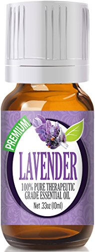 Lavender Essential Oil - 100% Pure Therapeutic Grade by Healing Solutions Essential Oil - 10ml