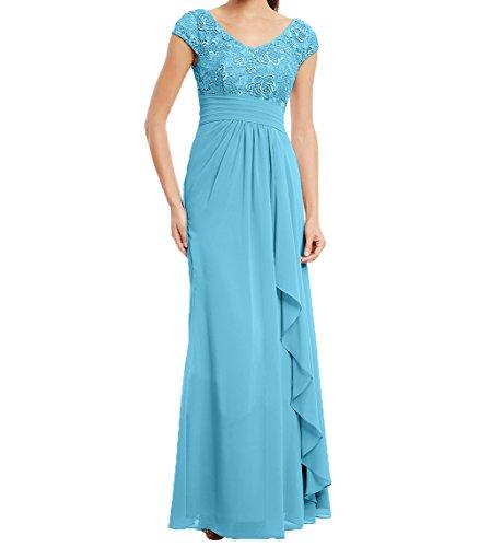 Charmant Blau V ausschnitt Promkleider Damen Partykleider Brautmutterkleider Neu Kleider Abendkleider Damen Spitze 2018 Spitze twqaAxrtO