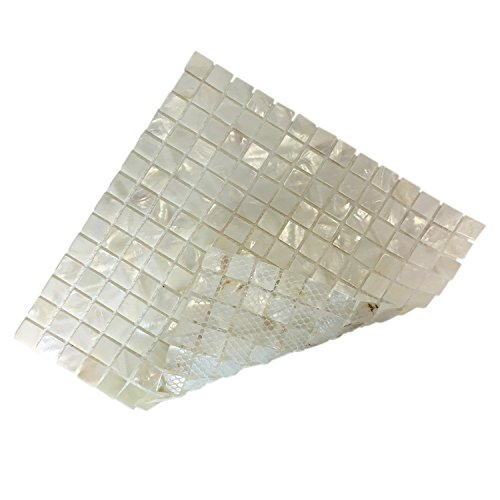 Art3d 10-Pack Oyster Mother of Pearl Square Shell Mosaic for Kitchen Backsplashes, Bathroom Walls, Spa Tile, Pool Tile by Art3d (Image #5)