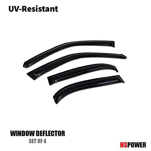 HS Power Ventvisor Window Deflector Sun/Rain Guards Smoke Vent Shade Window Visors 4P Set 1998-2002 for Toyota Corolla/Chevrolet Prizm