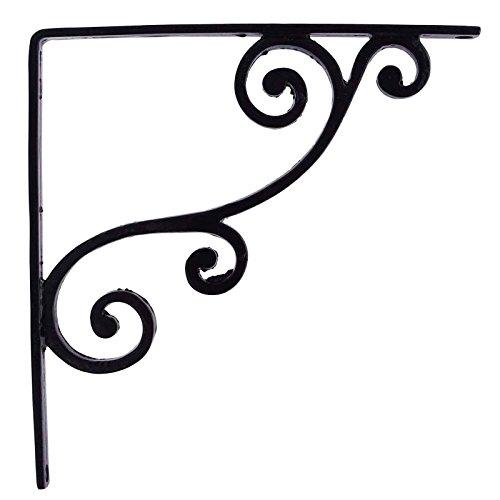 (Shelf Support Black Iron Metal Wall Decor Indian Home D?cor Wall Bracket Corbel)