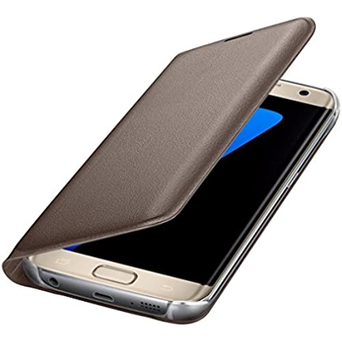 DEESEE(TM)Samsung Galaxy S7 Edge Case Luxury Leather Wallet Card Flip Case Cover (Gold ) Sales