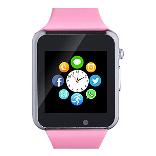 Smart Watch, Bluetooth Smart Watch Phone with SD Card Pedometer Call Text Notification Music Player Camera Compatible…