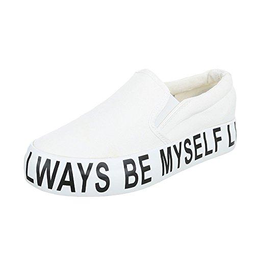 Ital-Design - Zapatillas de casa Mujer Weiß BL22P