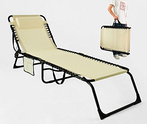 PliantCampingFauteuil Chaise SoleilTransat Relax Longue Bain Réglable Mi Sobuy De Jardin Ogs10 Et –beige InclinablePliable nwO80kXP