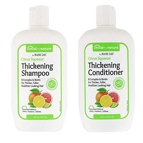 (Madre Labs Thickening Shampoo and Thickening Conditioner Bundle)