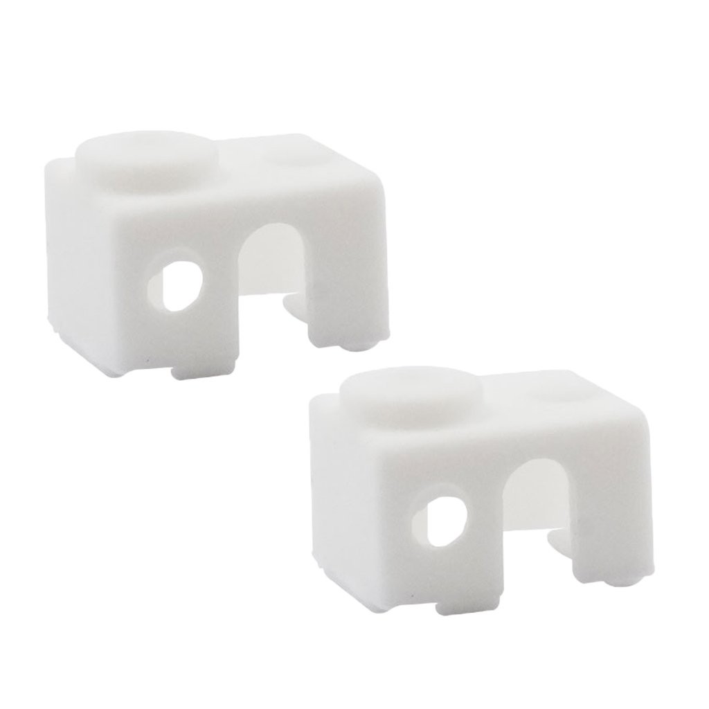 SM SunniMix 2Pcs 3D Printer Part V6 Calcetines De Silicona Funda Protectora-Blanco