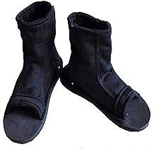 Naruto Uchiha Sasuke Haruno Sakura Ninja Cosplay Black Shoes Sandals Boots Kakashi Shoes Cosplay Costume Accessories Black