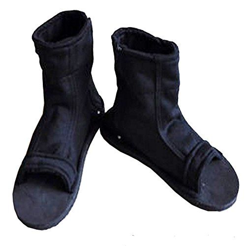 Naruto Uchiha Sasuke Haruno Sakura Ninja Cosplay Black Shoes Sandals Boots Kakashi Shoes Cosplay Costume Accessories Size 37