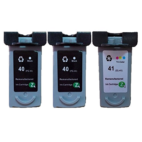 [QUIMOOZ Remanufactured Printer Inkjet Ink Cartridge Replacement for Canon PG-40 CL-41 -With Ink Level Display Indicator (2 Black,1 Color)] (Cl 41 Ink Refill)