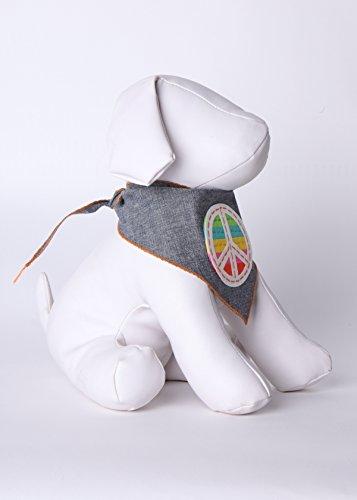 Image of Tail Trends Unity Peace Dog Bandana for Medium to Large Sized Dogs - 100% Cotton (Medium)