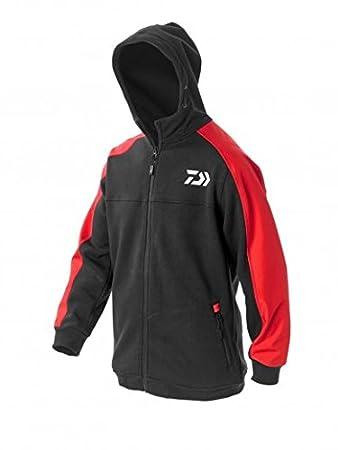 31f23493b24 Daiwa Hoodie: Red: XXXL: Amazon.co.uk: Sports & Outdoors