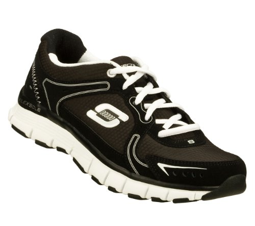 Skechers Flex Fit Sneakers Atletiche Da Donna Reattive Black / White