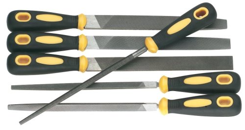 Woodstock D3112 File Set with Rubber Handles, 6-Piece