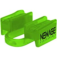 New Age Performance 6DS Sports and Fitness Weight-Lifting Mouthpiece - Lower Jaw - No-Contact - Includes Case - Lime Green