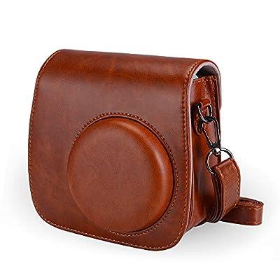 Tiessic Instax Camera Case for Fujifilm Instax Mini 9 /Mini 8 /Mini 8+ Camera with Shoulder Strap and Pocket