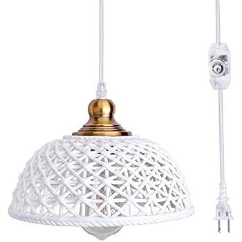 Amazon.com: HMVPL Ceramic Plug-in Pendant Lighting