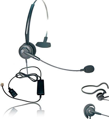 Voip Interface - ShoreTel Compatible VXI Tria Ultra Noise-Canceling VoIP Headset Bundle | Telephone Interface Cable Included | ShoreTel IP Phones: 100, 212K, 230, 230g, 265, 530, 560g, 565, 565g, 655, 655g