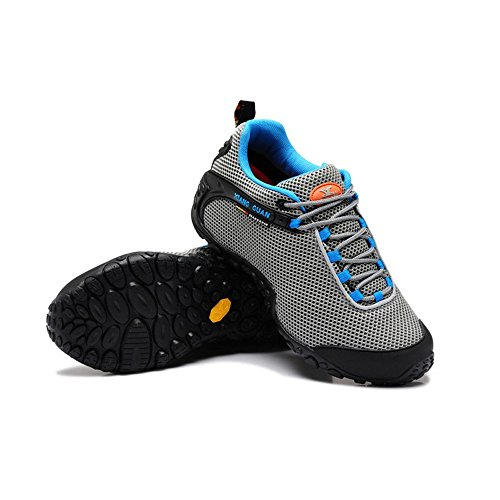 Xiang Guan Herren Mesh Atmungsaktiv Outdoorschuhe Trekkingschuhe Walkingschuhe Sport Camping Wandern Trail Schuhe Grau