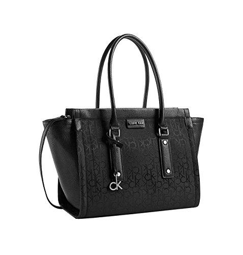 Calvin Klein Womens Daron Metro Tote Bag (Black)