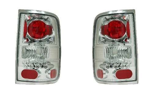 FORD F-150 04-06 TAIL LIGHT ALL CHROME (LED STYLE) NEW