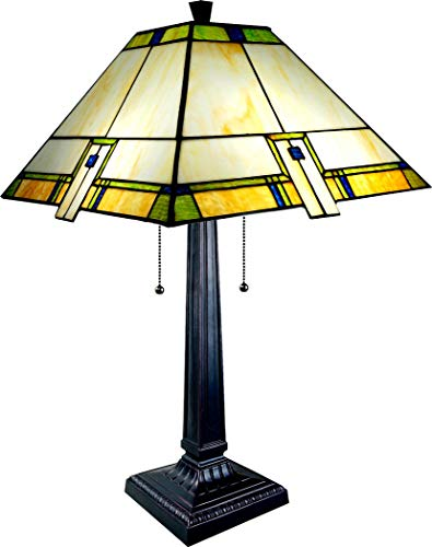 ts TLE-B2861 Mission Style Uneven- Tiffany LAMP ()