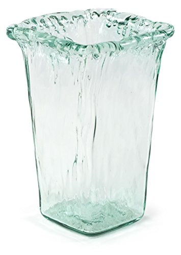 100% Recycled Glass Textured Small Square Vase - 6