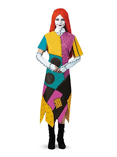 Nightmare Before Christmas Cosplay Costumes (Disguise Women's Tim Burton's The Nightmare Before Christmas Sally Classic Costume, Mulit,)