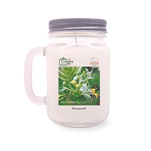 Country Jar HONEYSUCKLE Soy Candle (14 oz. Mason-Carry Jar) New Year Sale 20% OFF! 3 or More Entire - Candy Wooden Cart For Sale
