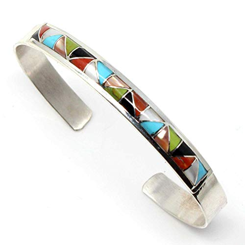 L7 Enterprises Zuni Multi-Color Channel Inlay Bracelet