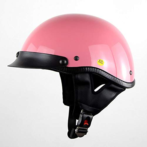 (Harley Half Face Helmet DOT Certification Retro Personality Motorcycle Men and Women Jet Helmet Half Helmet Helmet Cruise Helmet Bicycle Scooter Scooter Sunscreen Helmet,M)