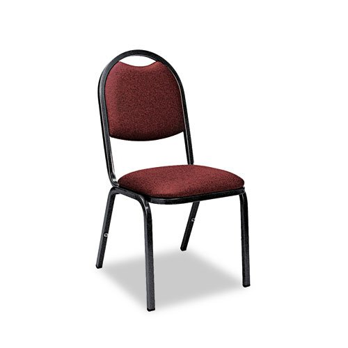 Virco Series Fabric Upholstered Stack Chair, Ruby Frabric with Black Frame, Pack of 4 (8917-RED201-BLK01)