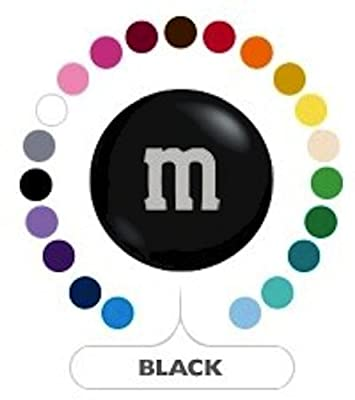 M&M's Black Milk Chocolate Candy 1LB Bag