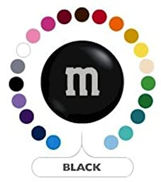 M&M\'s Black Milk Chocolate Candy 1LB Bag
