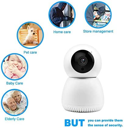 Kunova TM Smart Tracking WiFi Camera 1080P HD Wireless IP Security Cloud Storage Baby Pet Monitor Cams Motion Detection Two-Way Audio Night Vision Remote Control by Android iOS App
