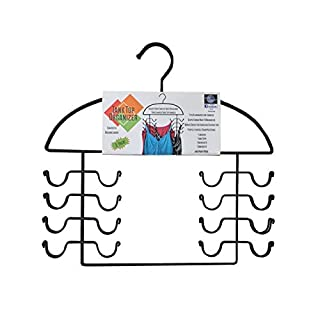 DR . ORGANIZER 2 pc set, Tank Top Closet Organizer Hangers - Black Steel, USA Patented (8200)