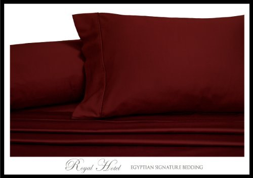 Wrinkle-Free Solid burgundy California King size Microfiber sheet set, deep pocket, 95gsm ,100% Microfiber