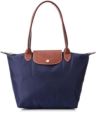 Longchamp Le Pliage Tote Shoulder Bag, Navy Blue, Medium