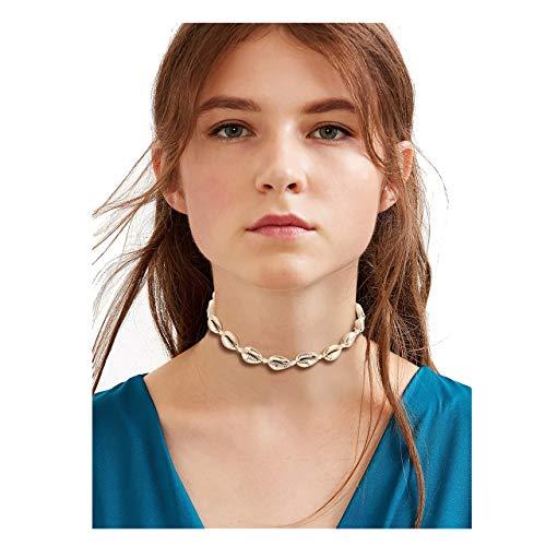 (MOLOCH Shell Choker Necklace (Gold Shell))
