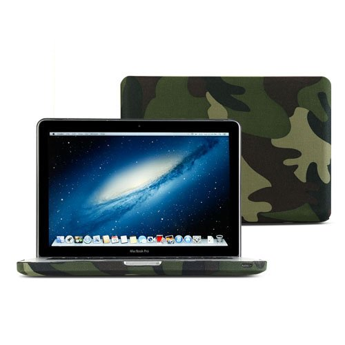separation shoes 75887 bd35d GMYLE(R) Woodland Camouflage Camo Fibre Coated Hard Shell Carrying Case  Cover for MacBook Pro 13 inch