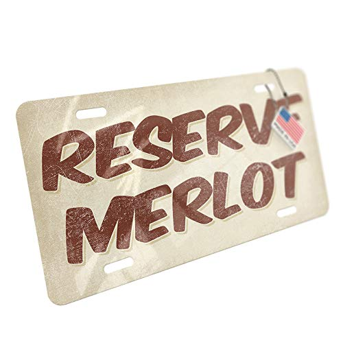 Merlot Reserve - NEONBLOND Reserve Merlot Wine, Vintage Style Aluminum License Plate