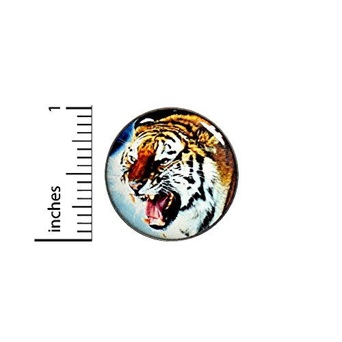 Cool Roaring Tiger Button Badge Pinback Tough Rad Jacket Backpack Pin 1