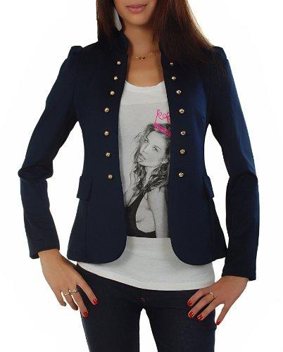 Femme AO fonc bleu Taille Julia L Blazer qEExPAFH