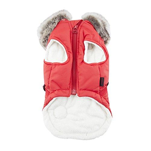 Puppia Clark Winter Fleece Vest, Medium, Red by Puppia (Image #1)