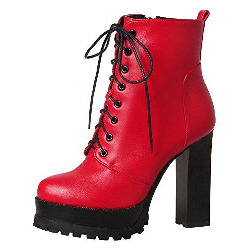 Elegante Tacco Plateau Donna Punk Scarpe Alto col Rosso e MissSaSa TZ8t7q