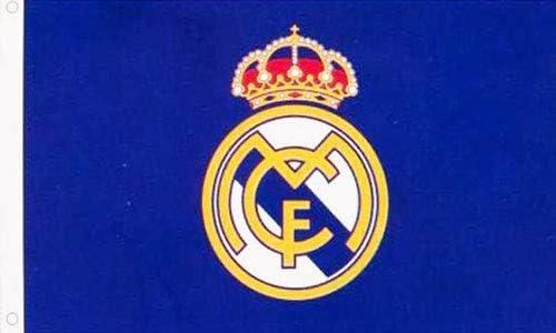 AES Real Madrid Bandera Escudo Azul 3x5 Merchandising Autentico Primera Liga (150 x 90 cm): Amazon.es: Hogar