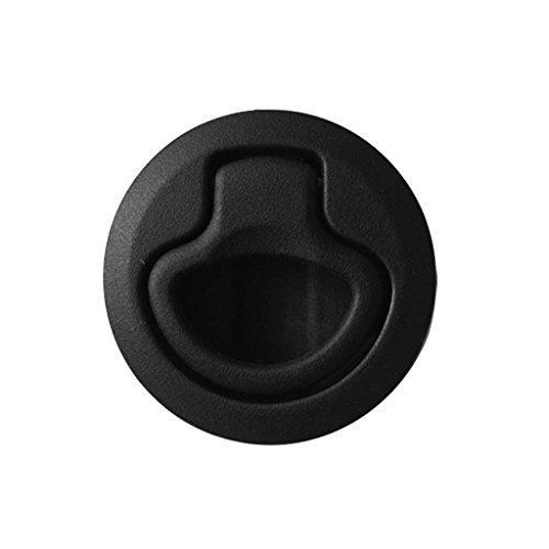 Dovewill Black Nylon 2'' Flush Pull Slam Latch for Boat Deck Hatch 1/2'' Door Replacement Marine Accessory (1/2' Drawer Pull)
