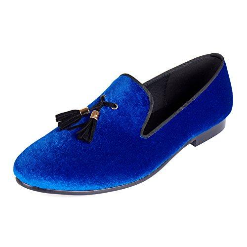 Slip-On Dress Shoes Tassel Solid Men Velvet Loafers