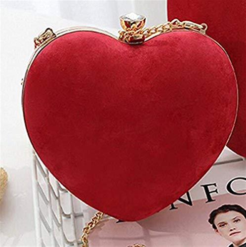 Cuore donna diagonale Party Heart in Dinner Late Sveglio Light Strass Rosso Crystal Banchetto La Grey Borsa Pogo Love Evening Matrimonio Banchetto New Attività Red Gift velluto Sweetheart Red Pink qw8RxzxP